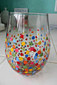 diy painted wine glasses serendipity by