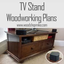 tv stand finished get the plans too wood shop mike