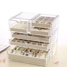 necklace earring display box images Jewelry display tray acrylic jewelry display box ring necklace jpg