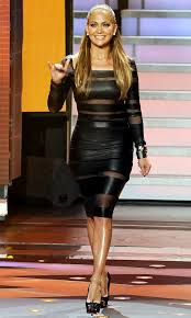 j lo u0027s black leather long sleeve cutout dress or not