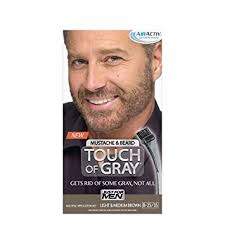 mens low lights for gray hair buy just for men touch of gray hair color mustache and beard light