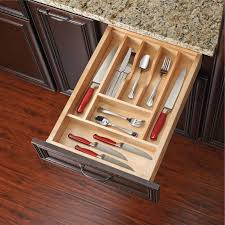 drawer inserts for kitchen cabinets rev a shelf 4wct 1 wood cut to size cutlery kitchen utensil drawer