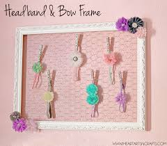 bow holder diy headband and bow holder frame i heart arts n crafts