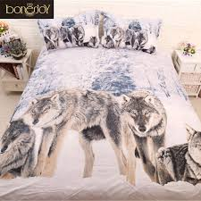 Wolf Bedding Set Bonenjoy 3d Wolf Bedding Set Wolf Bedding Snow Wolf Duvet Cover