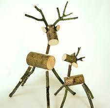 log reindeer rustic log deer medium deer reindeer ornament