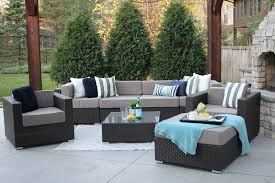 Patio Chairs With Ottoman Meldecco Patio Furniture