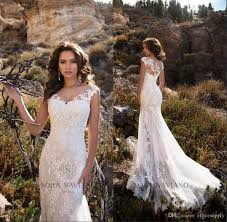 2018 lace wedding dresses country forest style count train