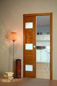 bloc porte cuisine porte coulissante chene vitree flat porte et bloc porte