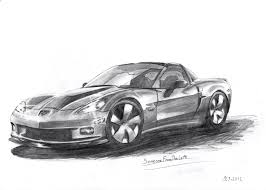 cartoon sports car black and white corvette z06 drawing someonefromtheleft 2017 sep 9 2012