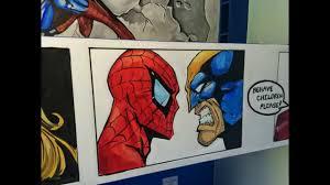 marvel comic mural room by drews wonder walls ft spider man youtube