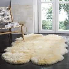 Bare Skin Rug Safavieh Hand Woven Sheepskin Pelt White Shag Rug 5 U0027 X 8 U0027 Free
