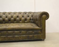 Leather Chesterfield Sofa Sale by English Olive Green Leather Chesterfield Two Seater Sofa 1960s