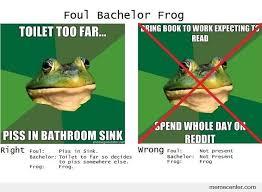 Bachelor Frog Meme - foul bachelor frog meme generator beautiful photographs new funny