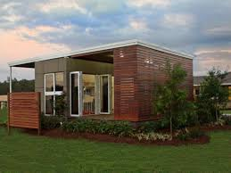 open plan kitchen dining living room modular shipping container