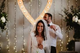 Wedding Dress Hire London Stylish Jewish Wedding With Bride In Bespoke Dress At Trinity Buoy