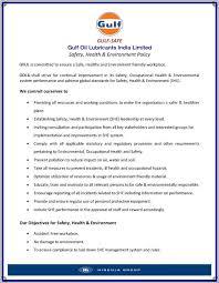 gulf oil environmental care gulf oil lubricants india ltd
