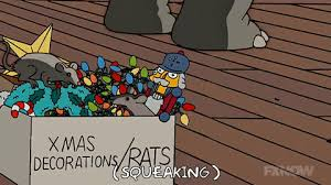 the simpsons rats in box of decorations roofing contractor