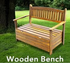 Outdoor Storage Bench Seat Wooden Garden Storage Box Timber Bench Chair Outdoor Furniture 2
