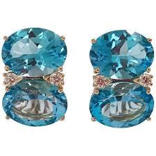 grande earrings grande gum drop earrings with blue topaz and diamonds