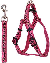 Comfortable Dog Collar Pet Leash Harness Pink For Small To Medium Dogs U0026 Cats