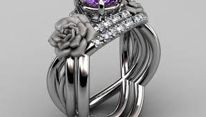large amethyst diamond white gold engagement rings amethyst diamond ring amazing engagement rings
