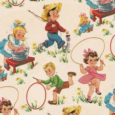 vintage wrapping paper vintage kids wrapping paper 5 sheets rex london dotcomgiftshop
