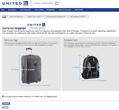 united checked bag united crew carrying bags that exceed their sizing bin