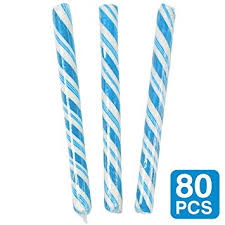 Amazon Com Blueberry Light Blue Candy Sticks 1 Pack Of 80 Toys