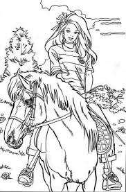 horse rider printable coloring pages riding horses horse