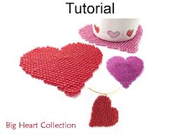 necklace pattern collection images Beading tutorial pattern valentines heart necklace brooch