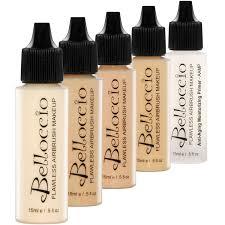 amazon com belloccio fair color shades airbrush makeup