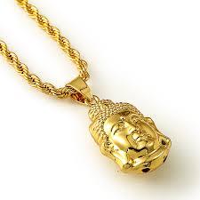 aliexpress buy nyuk new fashion american style gold out small buddha pendant necklace jewelry men hip hop