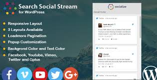 wordpress search layout search social stream for wordpress by saragna codecanyon