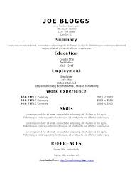 Resume For Factory Worker Simple Cv Template Artist Cv Template Cv Template 20 Free Word