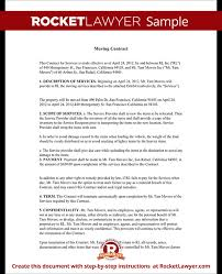 moving contract moving company contract template form with sample