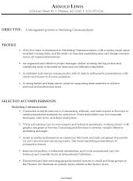 Sample Resume For Marketing Job by Fascinating Communication Resume Examples 9 Resume Marketing
