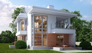 Two Story Home Designs Modern Concrete U0026 Glass Two Storey Design Home Design