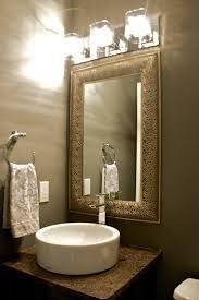 unique bathroom mirror ideas bathroom cool bathroom decoration with brown mirror frame plus