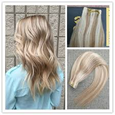 Skin Weft Seamless Hair Extensions balayage pinao remy human tape in hair extensions skin weft brown
