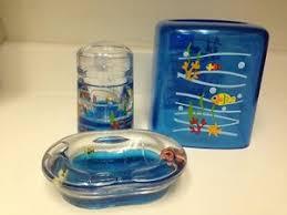buy sea life swimming fish bathroom accessory set new ocean