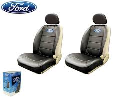 seat covers ford fusion ford elite seat covers black synthetic leather w pocket universal