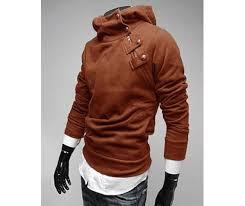 mens sweater hoodie darksoul shirt slim fit winter mens sweater brown jacket