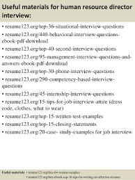 Human Resource Resume Samples Top 8 Human Resource Director Resume Samples