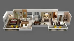 house plans 3d with 3 bedrooms www sieuthigoi com