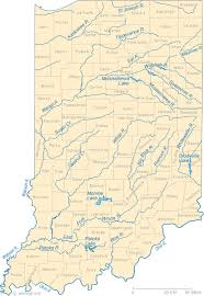 map kentucky lakes rivers map of indiana lakes streams and rivers