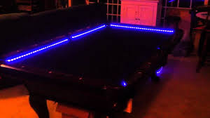 light over pool table rgb led bar pool table lights color changing and beats to t youtube