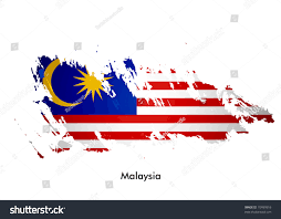 Maylasia Flag Malaysia Flag Grunge Design Vector Illustration Stock Vektorgrafik