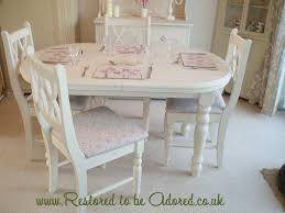 Shabby Chic Dining Room Table  Thejotsnet - Shabby chic dining room set