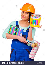 women builder with construction tools stock photo royalty free