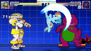 barney the dinosaur u0026 anakaris vs dex starr the cat u0026 rainbow dash